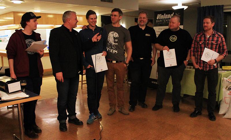 Vinnarna av folkets val på Vinterölträffen 2014.